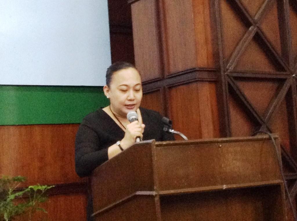 Prof. Acido-Muega deliver a response on behalf of fellow awardees