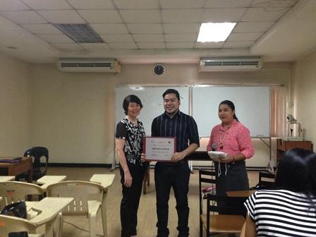 Depression speaker, Dr. Carlo Paolo Castro with Dean Alonzo and Prof. Duka-Pante