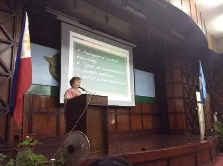 Dr. Serena Dikono delivers her keynote speech
