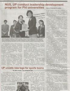 NUS, UP conduct Leadership Development Program for Phl Universities