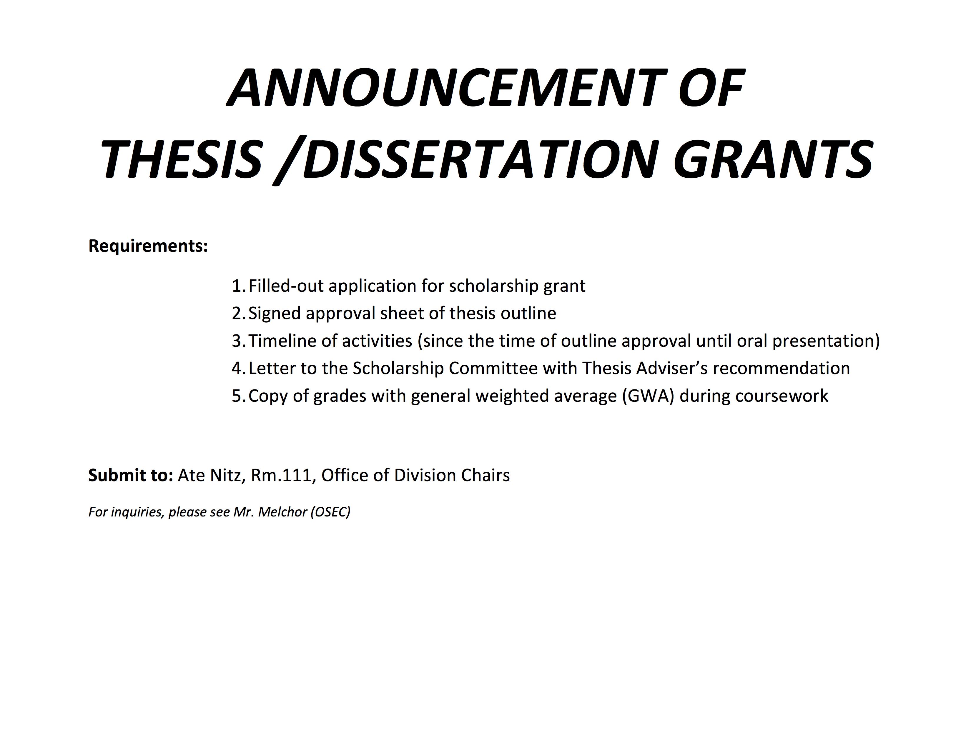 Dissertation Grant - Microsoft Research