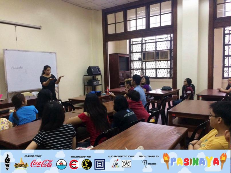 The sign language class during Pasinaya 2016